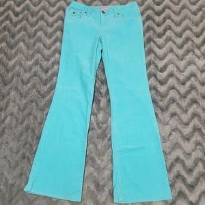 Aeropostale Light Blue Flare Corduroy Pants 5/6